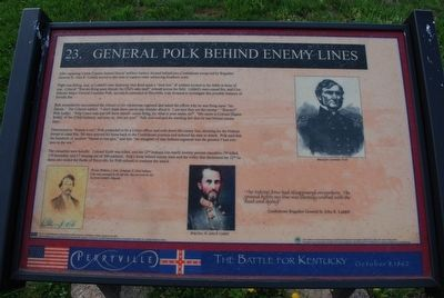 General Polk Behind Enemy Lines Marker image. Click for full size.