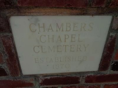 Chambers Chapel Cemetery Cornerstone image. Click for full size.