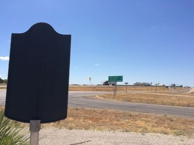 View of marker looking west on Interstate 20. image. Click for full size.