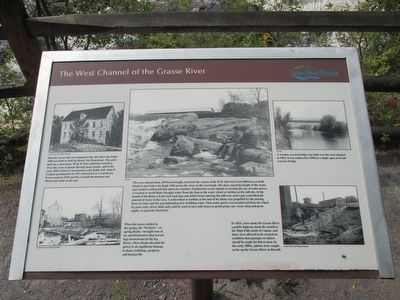 The West Channel of the Grasse River Marker image. Click for full size.