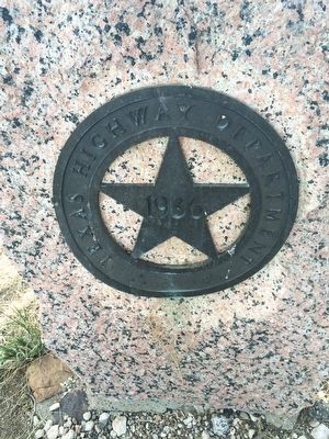 Closeup of Texas Star on monument. image. Click for full size.