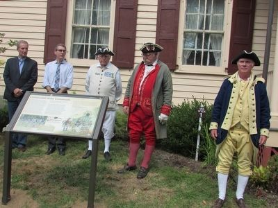 Dedication of the Continental Army Crossroads Marker image. Click for full size.