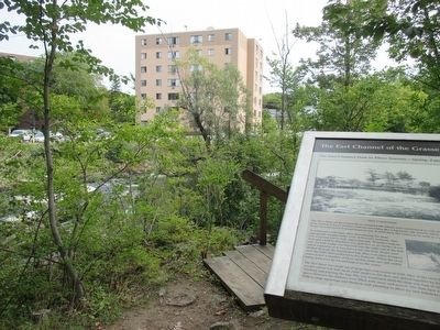 The East Channel of the Grasse River & Marker image. Click for full size.