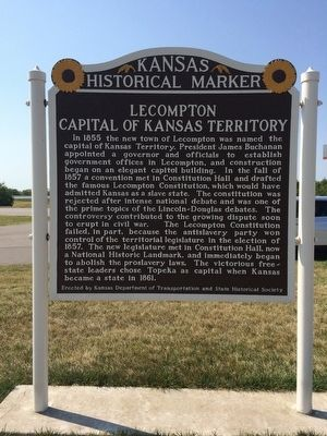 Lecompton Marker image. Click for full size.