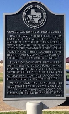 Geological Riches of Moore County Marker image. Click for full size.