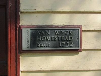 Another Van Wyck Homestead Museum Marker image. Click for full size.