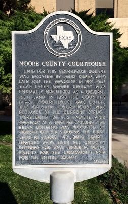 Moore County Courthouse Marker image. Click for full size.