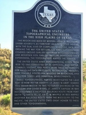 The United States Topographical Engineers in the High Plains of Texas Marker image. Click for full size.