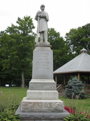 Morristown Civil War Memorial image. Click for full size.