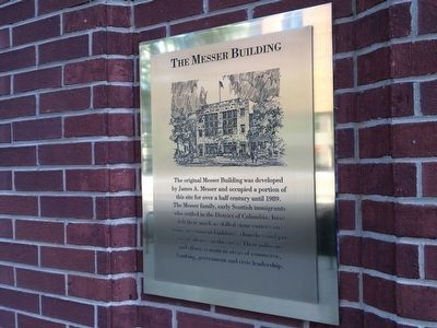The Messer Building Marker image. Click for full size.