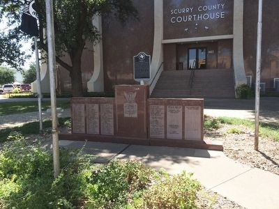 Company G Marker in front of Scurry County Courthouse image. Click for full size.