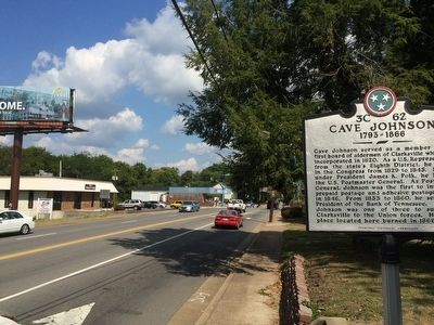 View of marker looking east on Madison Street. image. Click for full size.