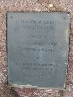 Andrew M. Emery Memorial Park Marker image. Click for full size.