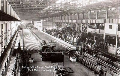 <i>Rolling Mill - Rouge Steel Plant, Ford Motor Company</i> image. Click for full size.