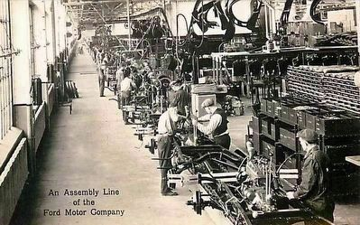 <i>An Assembly Line of the Ford Motor Company</i> image. Click for full size.