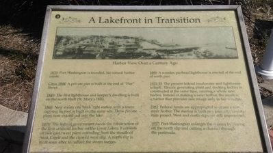 A Lakefront in Transition Marker image. Click for full size.