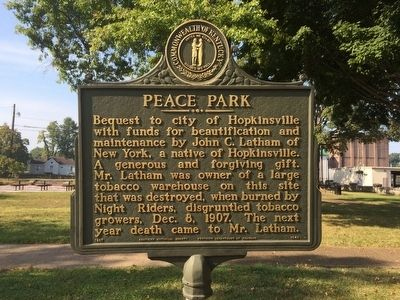 Peace Park Marker image. Click for full size.