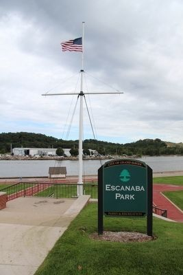 Escanaba Park Marker image. Click for full size.