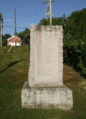 Scott County Revolutionary War Memorial (East Face) image. Click for full size.
