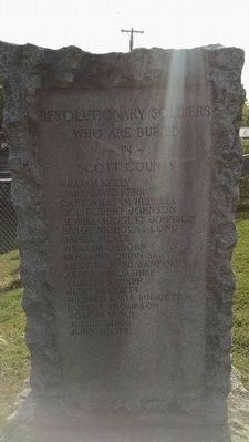 Scott County Revolutionary War Memorial (West Face) image. Click for full size.