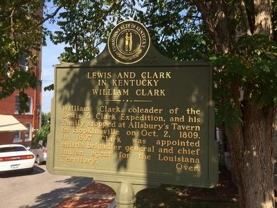 Lewis & Clark in Kentucky - William Clark Marker (Side 1) image. Click for full size.