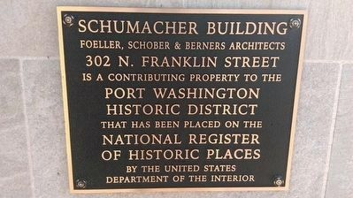 Schumacker Building Marker image. Click for full size.