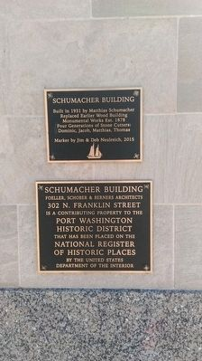 Schumacher Building Markers image. Click for full size.