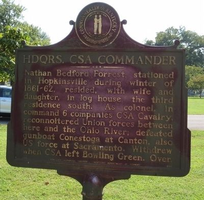 Hdqrs. CSA Commander Marker image. Click for full size.
