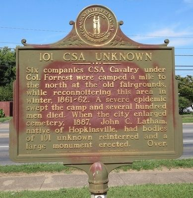 101 CSA Unknown Marker image. Click for full size.