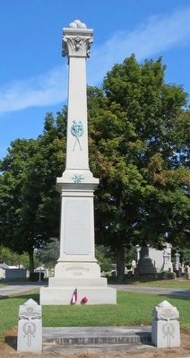 Confederate Dead memorial within cemetery. image. Click for full size.