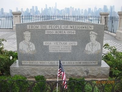 Weehawken Korea and Vietnam Memorial Marker image. Click for full size.