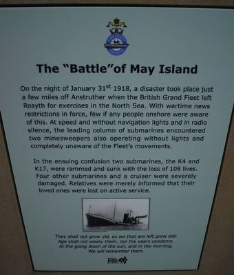 "The ""Battle"" of May Island Marker image. Click for full size."