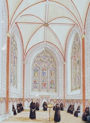 The chapter house in the late 1300s image. Click for full size.