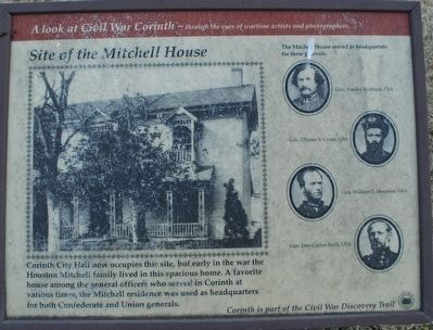 Site of the Mitchell House Marker image. Click for full size.