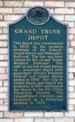 Grand Trunk Depot Marker image. Click for full size.