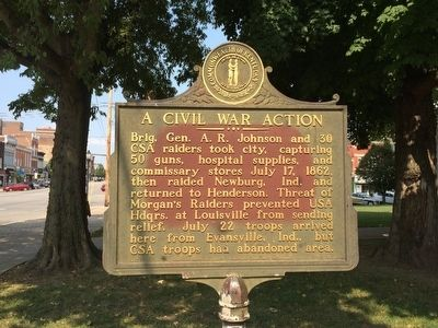 A Civil War Action Marker image. Click for full size.