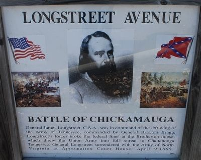 Longstreet Avenue Marker image. Click for full size.