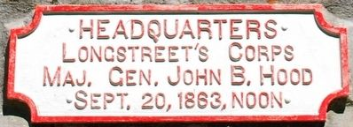 Longstreet's Corps Headquarters Marker image. Click for full size.