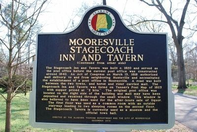 Mooresville Stagecoach Inn and Tavern Marker image. Click for full size.