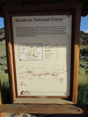 Shoshone National Forest Marker image. Click for full size.