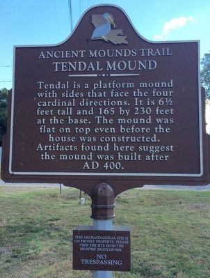 Tendal Mound Marker image. Click for full size.