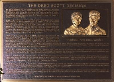 The Dred Scott Decision Marker image. Click for full size.