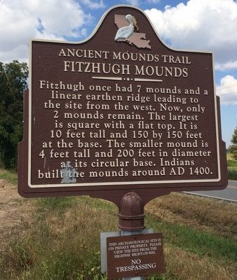 Fitzhugh Mound Marker image. Click for full size.