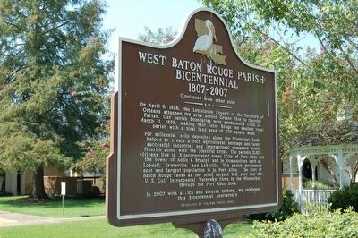 West Baton Rouge Parish Bicentennial Marker image. Click for full size.