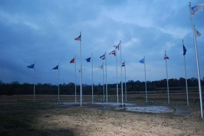 State Flags at Brice's Crossroads Visitor Center image. Click for full size.