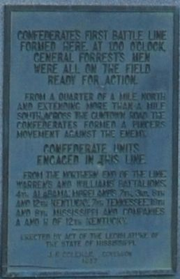 Confederate's First Battle Line Formed Here Marker image. Click for full size.
