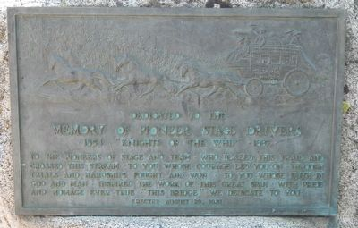 Pioneer Stage Drivers Marker image. Click for full size.