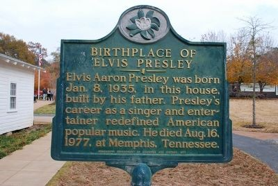 Birthplace of Elvis Presley Marker image. Click for full size.