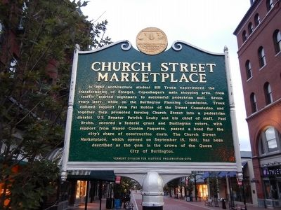 Church Street Marketplace Marker image. Click for full size.
