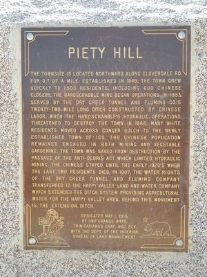 Piety Hill Marker image. Click for full size.